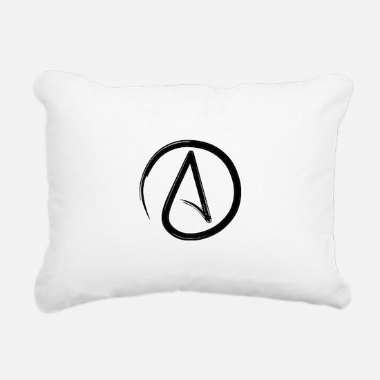 Atheist Symbol Rectangular Canvas Pillow