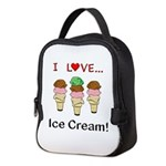 I Love Ice Cream Neoprene Lunch Bag
