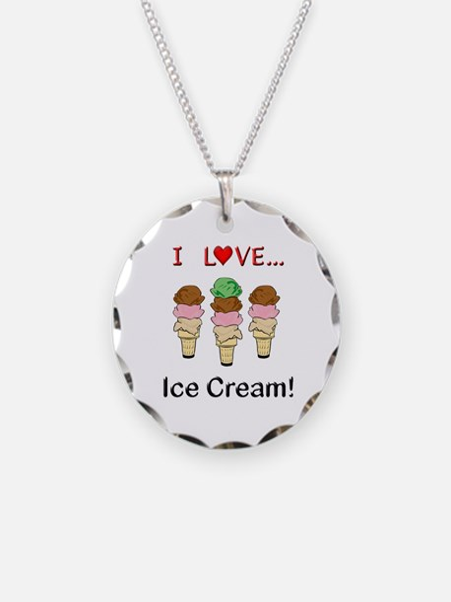 I Love Ice Cream Necklace