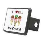I Love Ice Cream Rectangular Hitch Cover