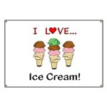 I Love Ice Cream Banner