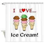 I Love Ice Cream Shower Curtain
