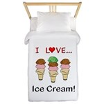 I Love Ice Cream Twin Duvet
