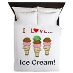 I Love Ice Cream Queen Duvet