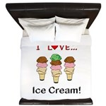 I Love Ice Cream King Duvet
