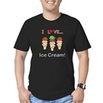 I Love Ice Cream Men's Fitted T-Shirt (dark)