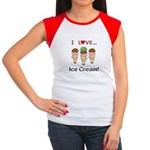I Love Ice Cream Women's Cap Sleeve T-Shirt