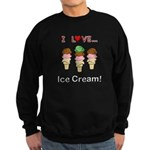 I Love Ice Cream Sweatshirt (dark)