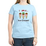 I Love Ice Cream Women's Light T-Shirt