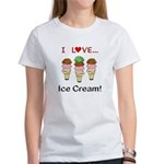 I Love Ice Cream Women's T-Shirt