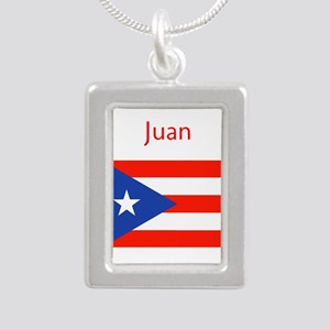 Custom Name Bandera Boriqua 23 Pahtay Necklaces
