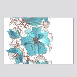 Pretty Floral Postcards (Package of 8)