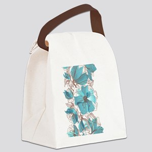 Pretty Floral Canvas Lunch Bag