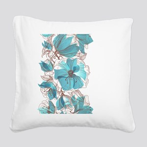 Pretty Floral Square Canvas Pillow