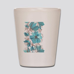 Pretty Floral Shot Glass