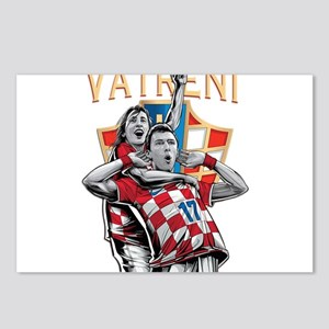Croatia Soccer Vatreni Luka and Mario Postcards (P