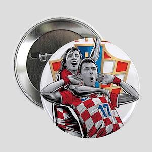 "Croatia Soccer Vatreni Luka and Mario 2.25"" Button"