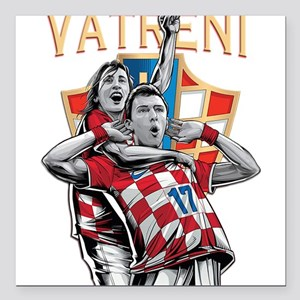 Croatia Soccer Vatreni Luka and Mario Square Car M