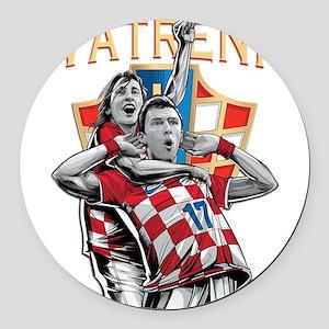 Croatia Soccer Vatreni Luka and Mario Round Car Ma