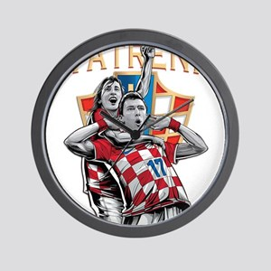 Croatia Soccer Vatreni Luka and Mario Wall Clock