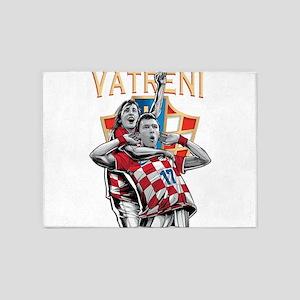Croatia Soccer Vatreni Luka and Mario 5'x7'Area Ru
