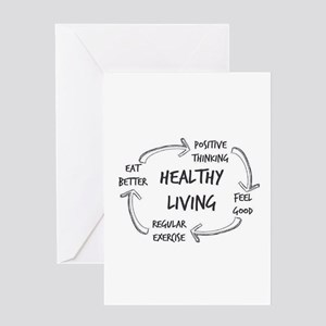 Healthy Living Greeting Cards