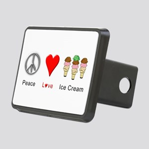 Peace Love Ice Cream Rectangular Hitch Cover