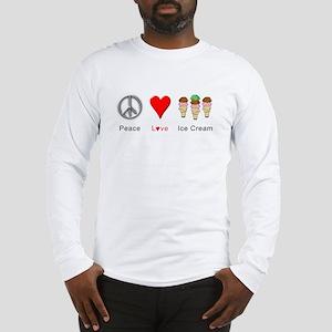 Peace Love Ice Cream Long Sleeve T-Shirt