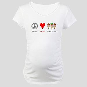 Peace Love Ice Cream Maternity T-Shirt