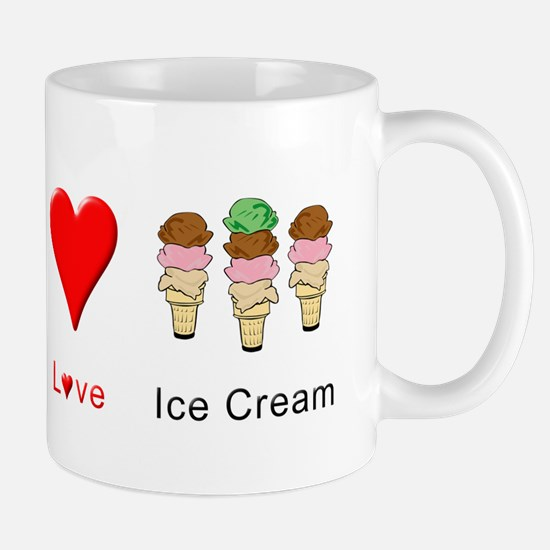 Peace Love Ice Cream Mug