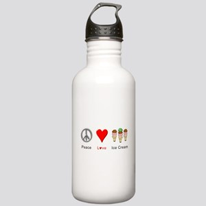 Peace Love Ice Cream Stainless Water Bottle 1.0L
