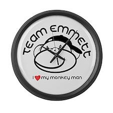 team emmett.png Large Wall Clock