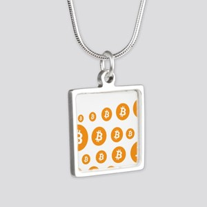 bitcoin pattern Necklaces