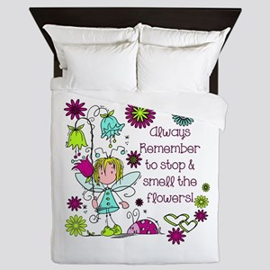 Smell the Flowers Queen Duvet