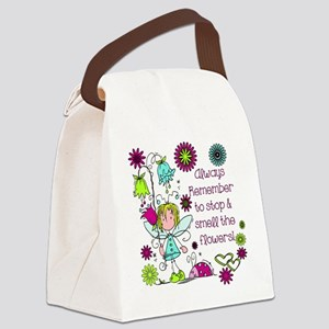 Smell the Flowers Canvas Lunch Bag