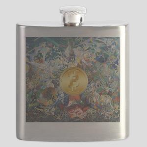 Bitcoin in Wonderland Flask