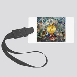 Bitcoin in Wonderland Large Luggage Tag