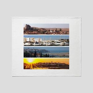 Rabat-Agadir-Morocco Throw Blanket