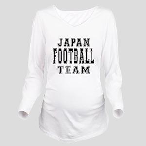 Japan Football Team Long Sleeve Maternity T-Shirt