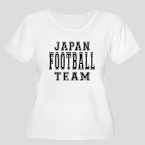 Japan Footbal Women's Plus Size Scoop Neck T-Shirt