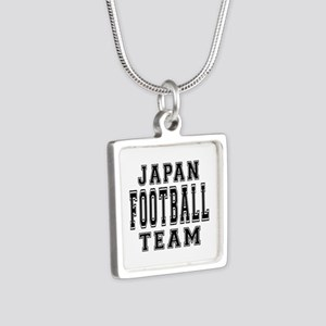 Japan Football Team Silver Square Necklace