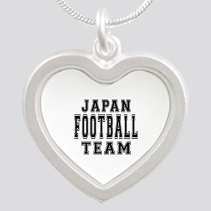 Japan Football Team Silver Heart Necklace
