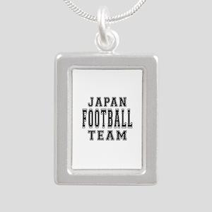 Japan Football Team Silver Portrait Necklace