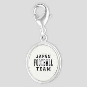 Japan Football Team Silver Oval Charm