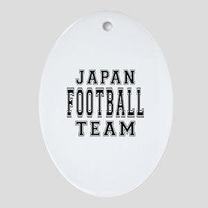 Japan Football Team Ornament (Oval)