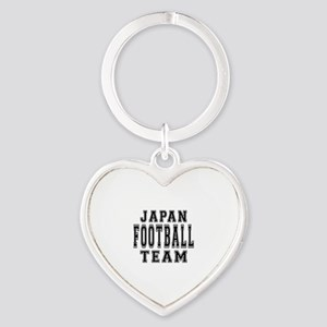 Japan Football Team Heart Keychain