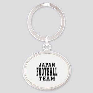 Japan Football Team Oval Keychain
