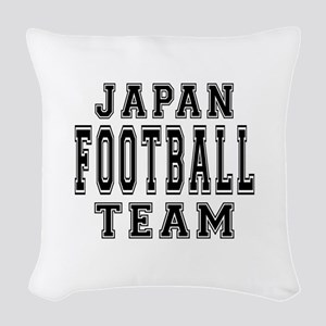 Japan Football Team Woven Throw Pillow