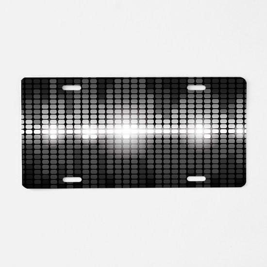 Sound Wave Aluminum License Plate