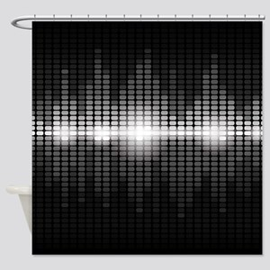 Sound Wave Shower Curtain
